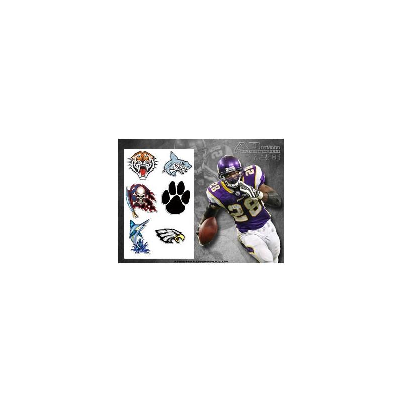 Tattoos Autocollants Football Americain 1