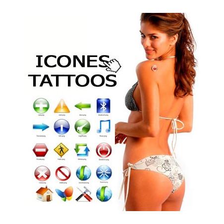 Tatouages temporaires ICONE