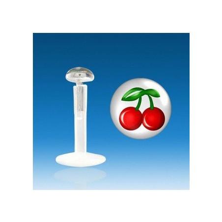 Piercing labret bioflex logo cerise