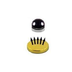 Faux piercing magnétique en acier noir