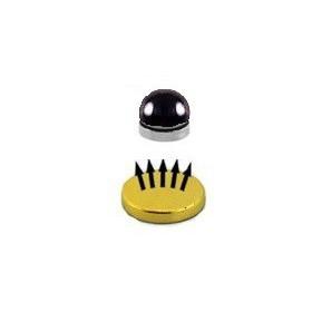Faux piercing magnétique en acier noir effet réaliste labret levre tragus cartilage lobe nez