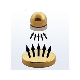 vente de Faux piercing magnétique couleur Or pour le nez le labret le tragus le cartilage