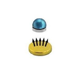 Faux piercing magnétique en acier bleu