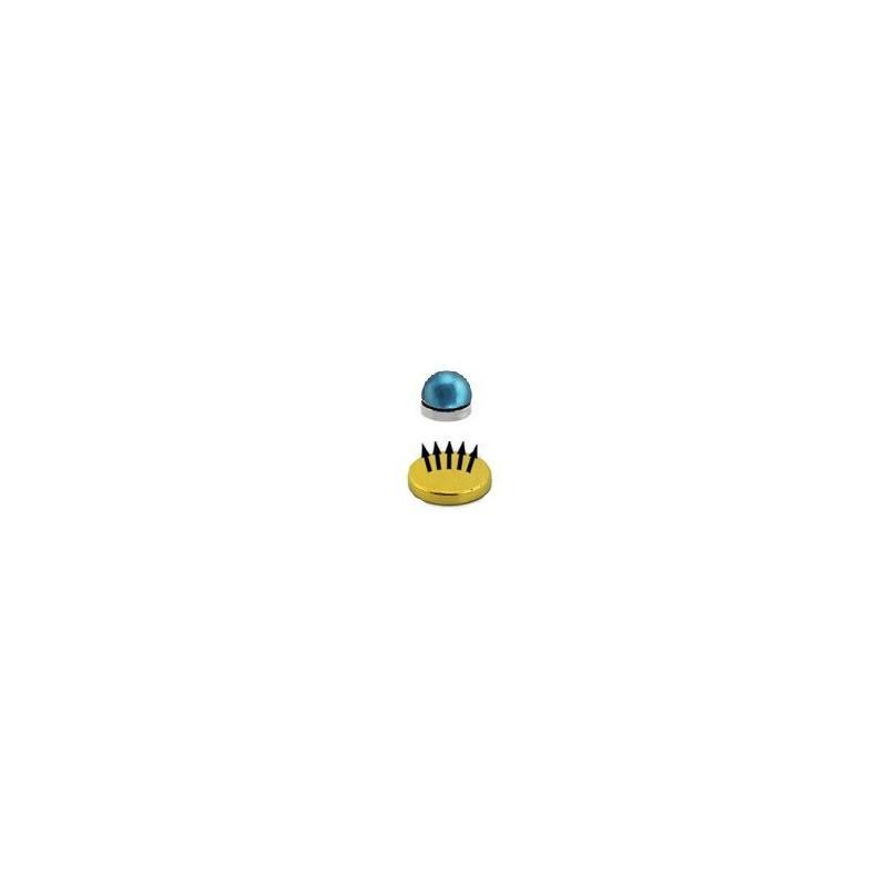 Faux piercing magnétique en acier couleur titane bleu en ligne