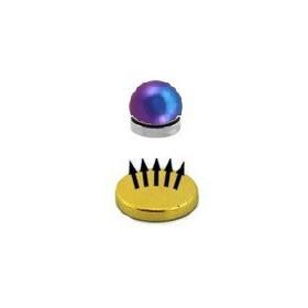 Faux piercing magnétique couleur titane  fioul bille 4mm