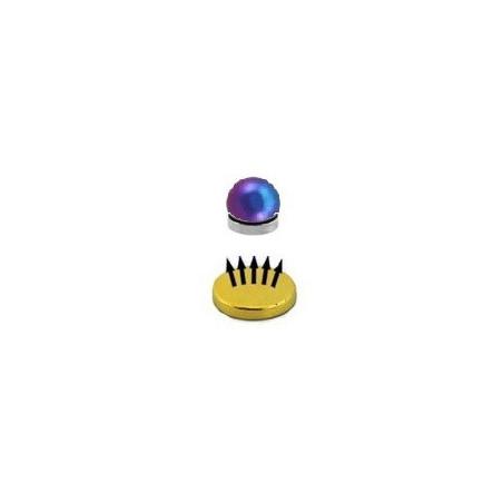 Faux piercing magnétique couleur fioul