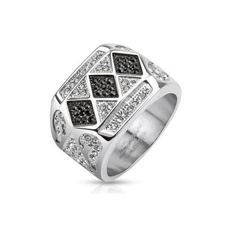 Bague homme acier 3 motifs Diamonds