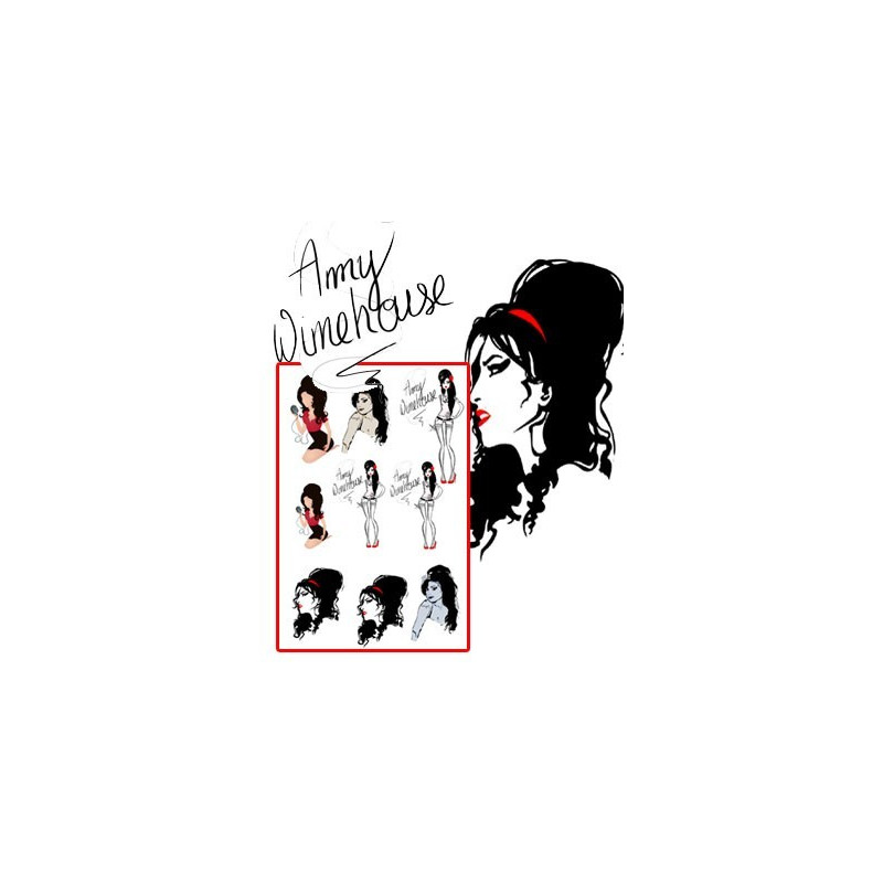 Amy winehouse Tattoos pack 3