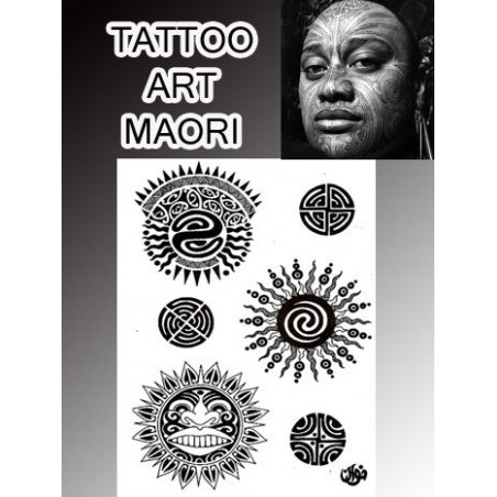 Tatouages temporaires Soleil Maori Polynesiens