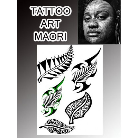 Tatouages temporaires Fern Maori Polynesiens