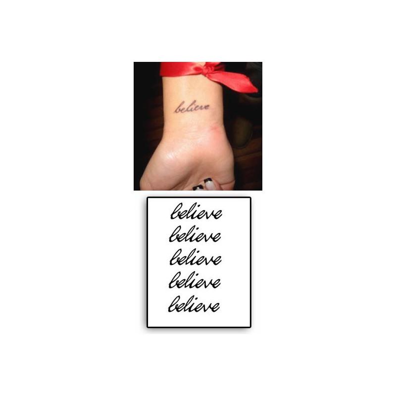 Tatouages Temporaires Lettres Beleive