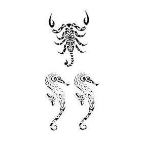 Tatouage Scorpion Hyppocampe Maori et Polynesien