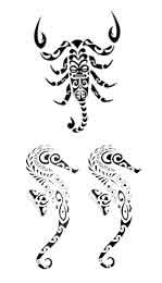 Tatouage Scorpion Hyppocampe Maori Et Polynesien Tarawa Piercing