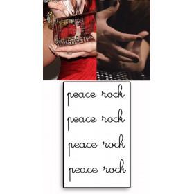 Demi Lovato Tattoos Peace Rock