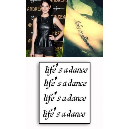 Ashley Greene Tattoo Life s a dance