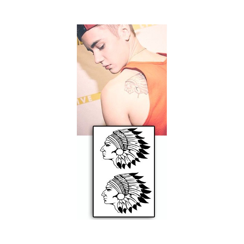 Justin Bieber tattoos temporaires Indiens