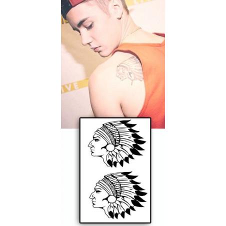 Justin Bieber tattoos temporaires Indiens