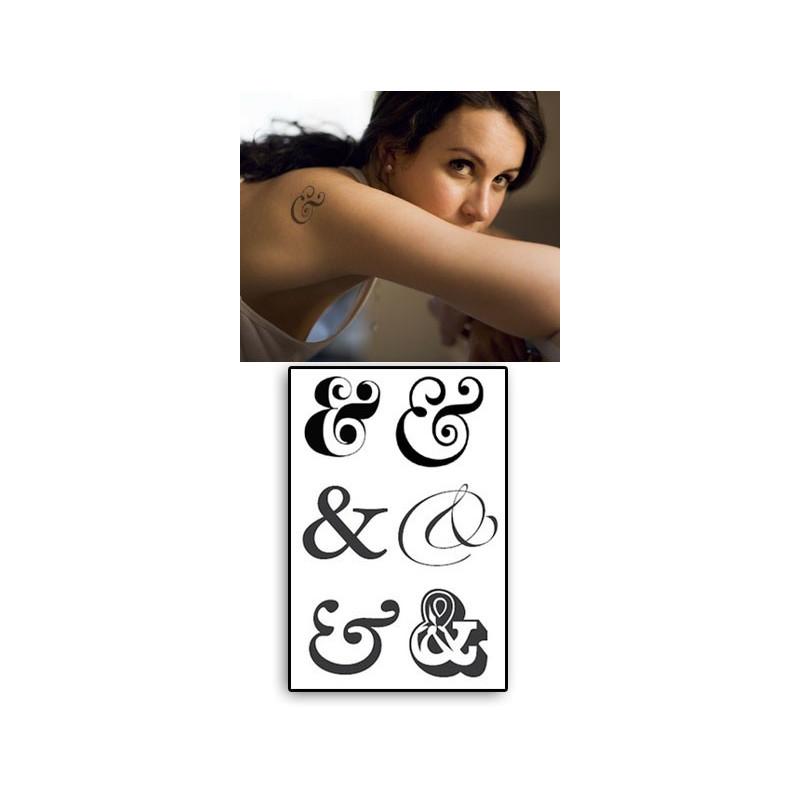 Ampersand Tatouages temporaires