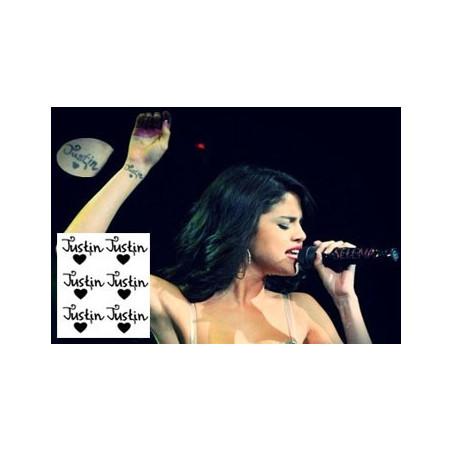 Selena Gomez tatouage en l honneur de Justin Bieber