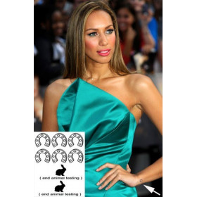 Leona Lewis Tattoos temporaires fer a cheval et lapin