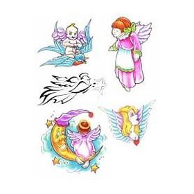 Tatouage Elfe Fée Ange autocollant
