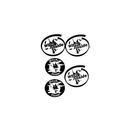 Planche Tattoo autocollant Sorciere