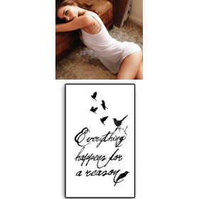 Tatouages Temporaires Everything happens for a reason
