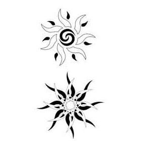 Tatouage Soleil Polynesien autocollant