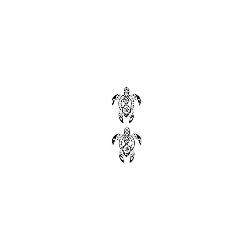 tatouage tortue maori et polynesien autocollant tarawa piercing. Black Bedroom Furniture Sets. Home Design Ideas