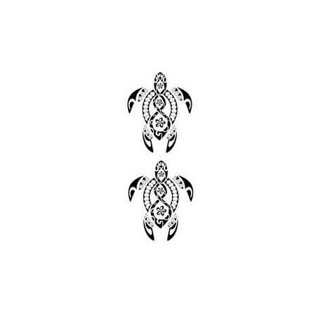 Tatouage Tortue Maori et Polynesien autocollant