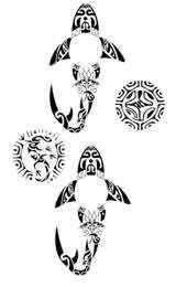 Tatouage Maori Et Polynesien Requin Autocollant Tarawa Piercing