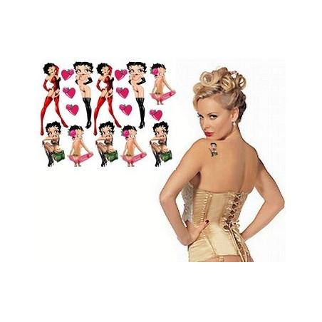 Betty Boop tatouages temporaires