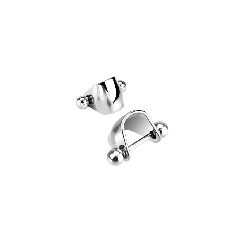 Piercing oreille tragus helix bouclier contour acier