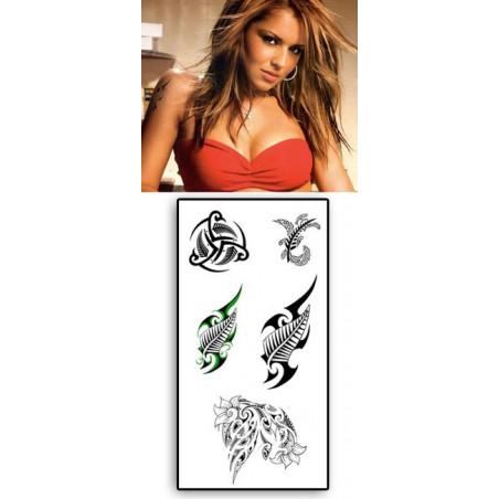 Tattoos temporaires Fern Maori Polynesiens