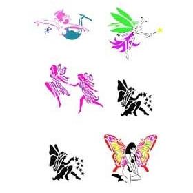 Planche Tattoo autocollant Elfe et fée
