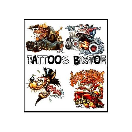 Tatouages BIGTOE autocollants