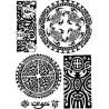 Tatouages Bracelets Maori et Polynesien autocollant