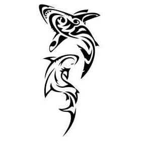 Tatouage Requin Maori et Polynesien autocollant