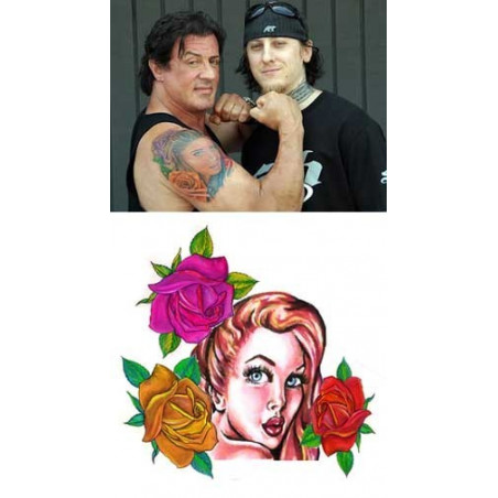 Sylvester Stallone tattoo