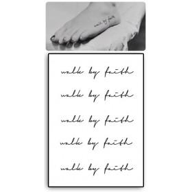 Tatouages Temporaires Phrase Walk by Faith