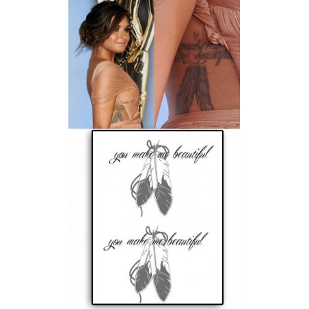 Demi Lovato Tattoos You make me beautiful