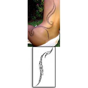 Tattoos temporaires Maori Polynesiens Lignes