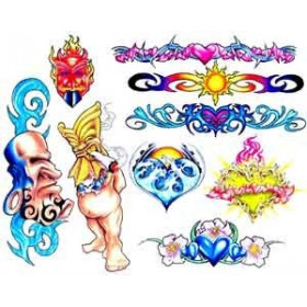 Tattoos autocollants TIKI Maori et Polynesien