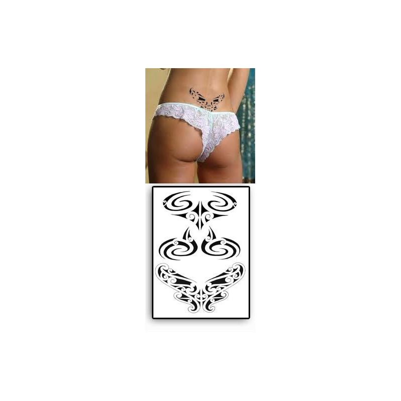 Tatouages temporaires Bas de Dos Maori Polynesiens