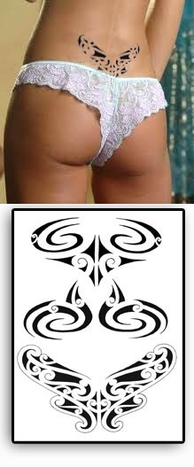 Tatouages Temporaires Bas De Dos Maori Polynesiens Tarawa Piercing