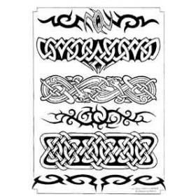 Tatouage bracelet Celtique Tribal autocollant