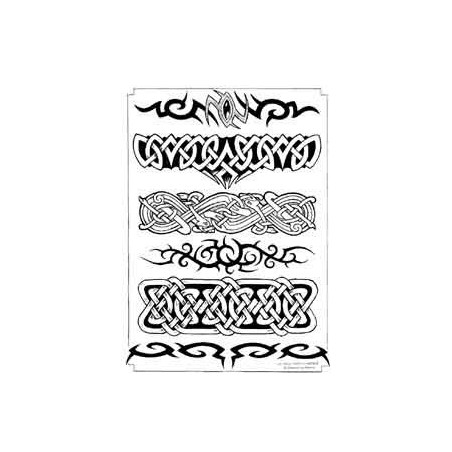 Tatouage bracelet Celtique Tribal autocollant