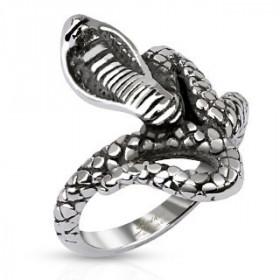 Bague femme Acier chirurgical inoxydable reptile Cobra Royal