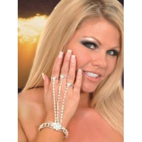 Bracelet bague cristal bijoux femme glamour