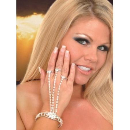 Bracelet bague cristal